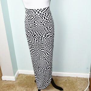 Adorable Black and White Checkered Skirt